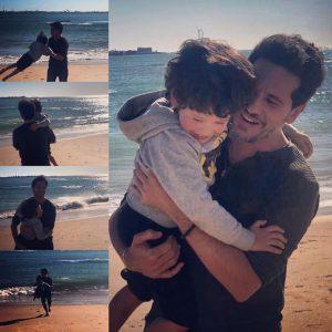 David De María con su hijo